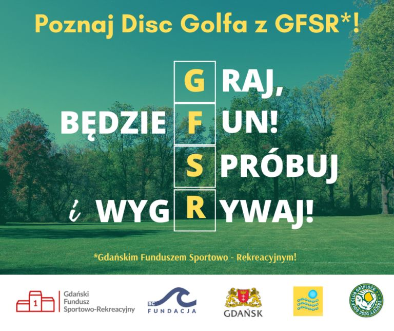 Zdjęcia | Poznaj DISC GOLFA z Gdańskim Funduszem Sportowo – Rekreacyjnym!